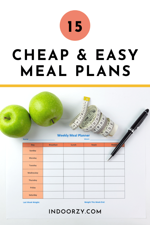15 Easy & Cheap Meal Plans