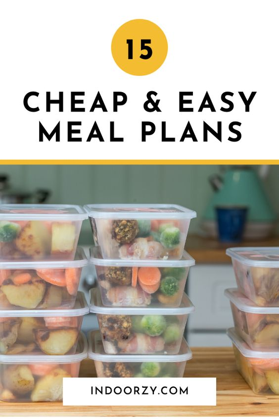 15 Cheap & Easy Meal Plans