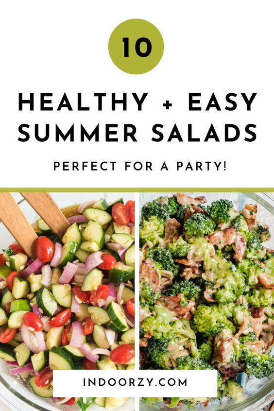 10 of the Best Healthy + Easy Summer Salads for a Crowd
