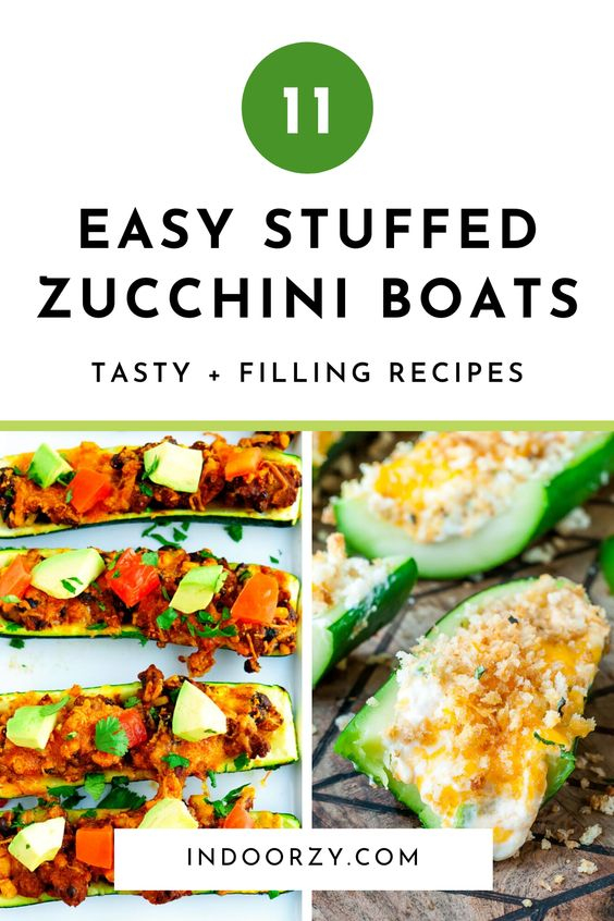 11 Tasty + Filling Zucchini Boats! Easy Stuffed Zucchini Recipes
