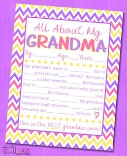 "Grandparents Day Activity | ""All About My Grandma"" Interview Free Printable (via Where The Smiles Have Been )"