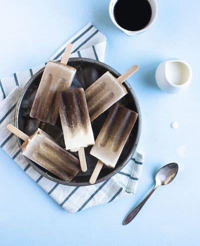 Cold Brew Mocha Popsicles Recipe + Photo by The Simple Sweet Life