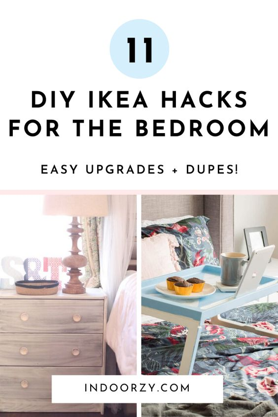 Easy DIY Ikea Bedroom Ideas | Simple Ikea Bedroom Hacks, Dupes + Other Projects