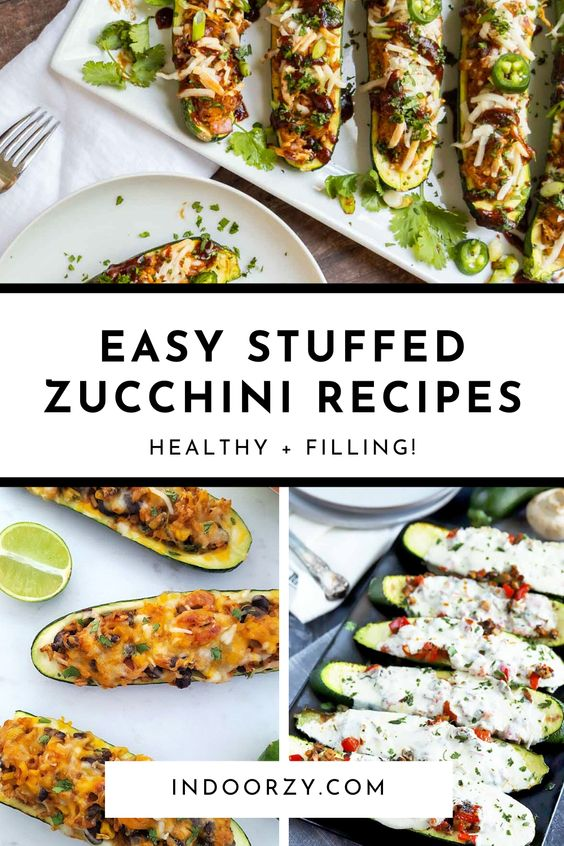 Easy Stuffed Zucchini Recipes! These Healthy + Filling Zucchini Boats are Perfect Quick Summer Meals