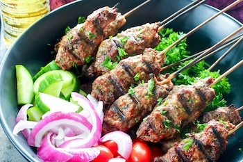 Ground Beef Kebabs (Grill or Oven)  Recipe + Photo by DELICIOUSONADIME.COM