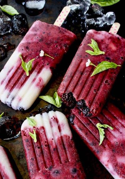 Healthy Fruit Popsicles with Berries Recipe + Photo by Veggie Society
