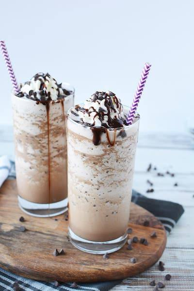Homemade Mocha Frappuccino Recipe + Photo by A Magical Mess