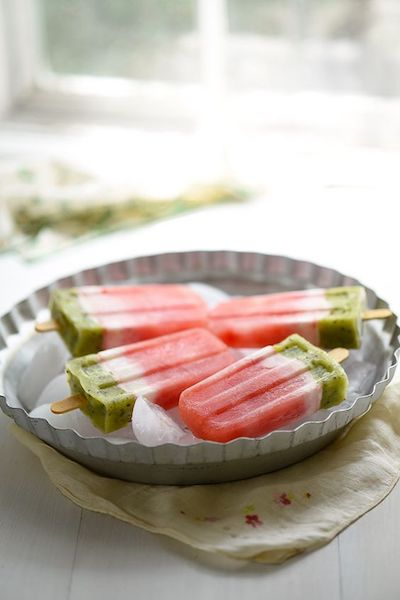 Homemade Watermelon Popsicles Recipe + Photo by Mighty Mrs