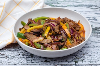 Instant Pot Beef Fajitas Recipe + Photo by CORRIECOOKS.COM