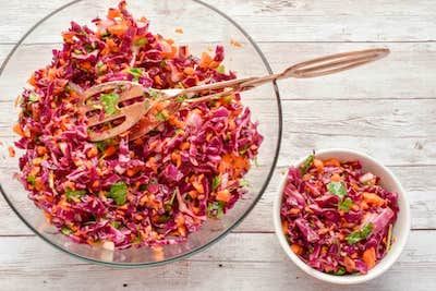 Keto Red Cabbage And Carrot Slaw  Recipe + Photo by Fit to Serve