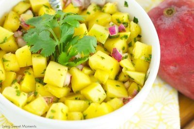 Refreshingly Delicious Mango Salad Recipe + Photo by Living Sweet Moments