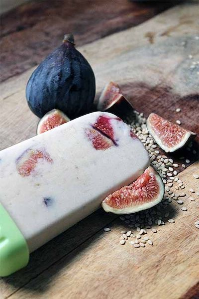 Tahini, Honey-Roasted Fig, and Banana Popsicles Recipe + Photo by Foodal