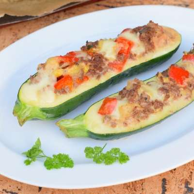 Zucchini Boats - Easy Tasty Filling Stuffed Zucchini Recipes