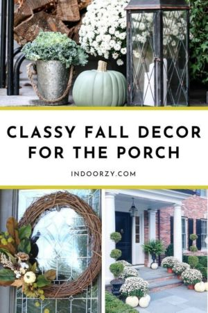 Affordable + Classy Fall Porch Decor (Mums, DIY Wreaths, etc)   Fall Decorating Ideas for the Porch