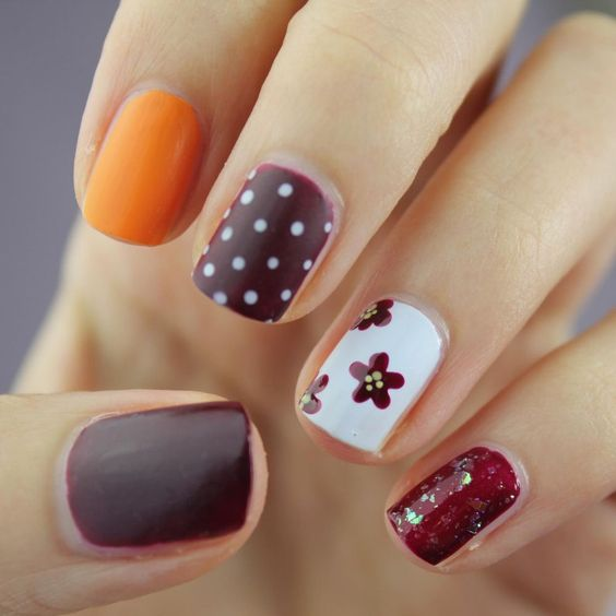Fall Nails Ideas | Short Simple Fall Nail Colors + Designs
