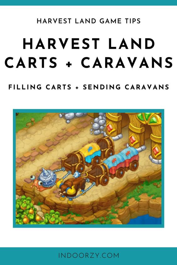 How to Send a Caravan in Harvest Land Game (+ Fill Caravan Carts) Harvest Land Game Tips