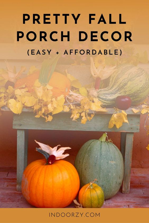 Pretty Affordable Fall Decorating Ideas for the Porch + Door (Mums, Simple DIY Wreaths, Dollar Tree)