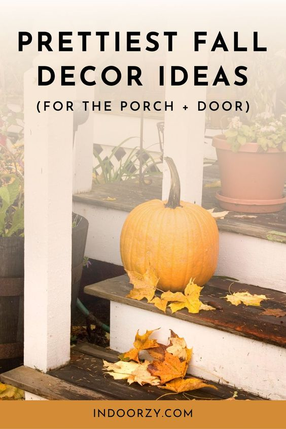 Pretty Fall Decor Ideas for the Porch + Door (Mums, Simple DIY Wreaths, Dollar Tree Finds + More!) | Best Fall Porch Decorations! Classy Fall Decor for the Porch