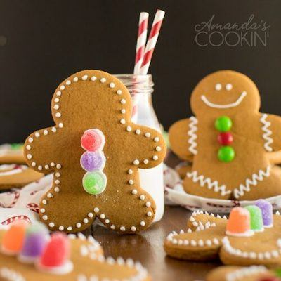 Gingerbread Man Decorated Christmas Cookies