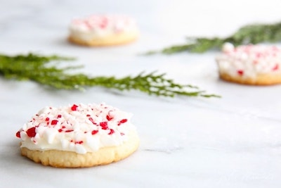 Melt-In-Your-Mouth Peppermint Christmas Cookies