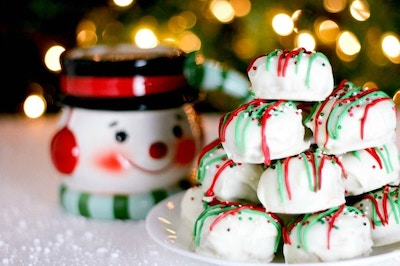 White Chocolate Peanut Butter Christmas Cookies