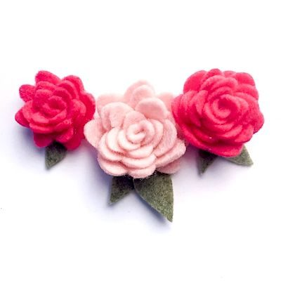 How to Make Felt Roses! FREE Rolled Rose Template + Tutorial